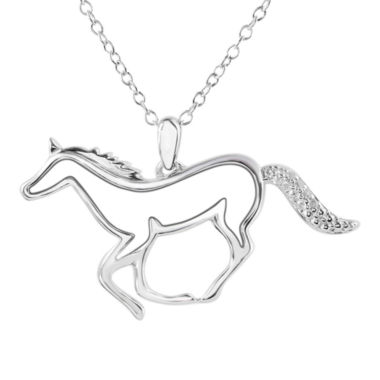 jcpenney.com | ASPCA® Tender Voices™ Diamond-Accent Horse Pendant Necklace