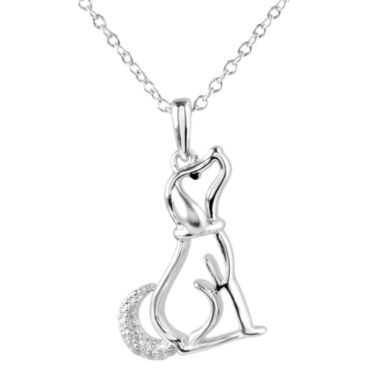 jcpenney.com | ASPCA® Tender Voices™ Diamond-Accent Dog Pendant Necklace