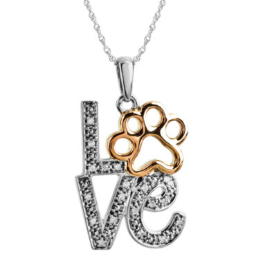 jcpenney.com | ASPCA® Tender Voices™ Diamond-Accent Stacked Love Animal Pendant Necklace