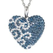 Montana Blue Crystal Heart Pendant