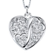 "Love Grows™ Crystal ""Two Hearts Meet"" Pendant"
