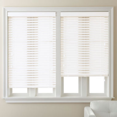 "jcpenney.com | JCPenney Home™ 2"" Smooth Faux-Wood Blinds"