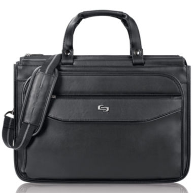 "jcpenney.com | SOLO Classic 16"" Triple-Compartment Laptop Briefcase"