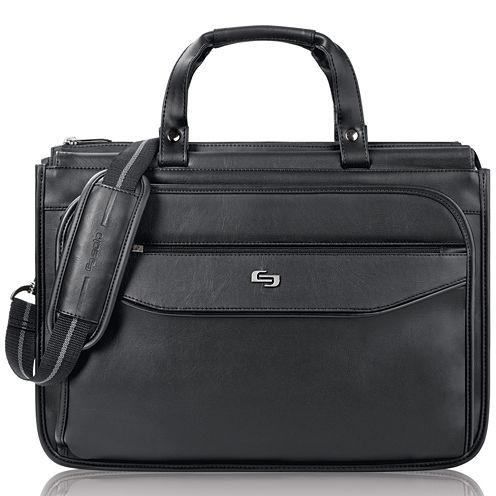 "SOLO Classic 16"" Triple-Compartment Laptop Briefcase"