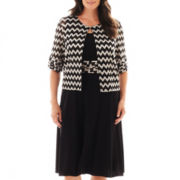 Perceptions Knit Dress with Jacket - Plus