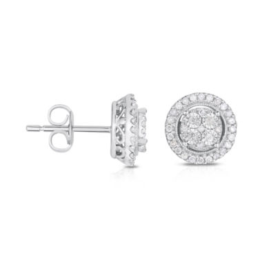 jcpenney.com | TruMiracle® 1/4 CT. T.W. Diamond 10K White Gold Stud Earrings