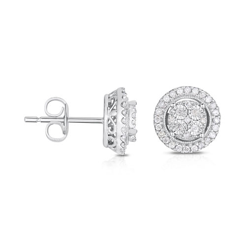 TruMiracle® 1/4 CT. T.W. Diamond 10K White Gold Stud Earrings