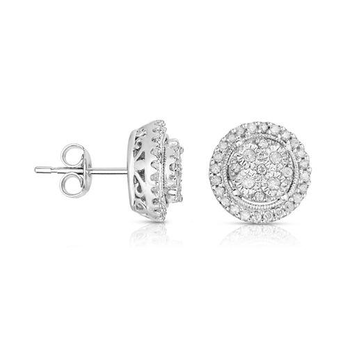TruMiracle® 1/2 CT. T.W. Diamond 10K White Gold Stud Earrings