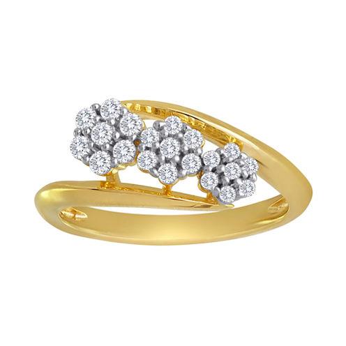 diamond blossom 1/3 CT. T.W. Diamond Cluster Ring
