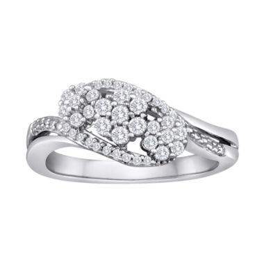 jcpenney.com | diamond blossom 1/2 CT. T.W. Diamond Sterling Silver Cluster Ring