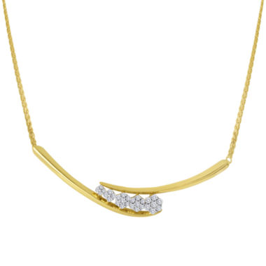 jcpenney.com | diamond blossom 1/3 CT. T.W. Diamond Cluster Necklace
