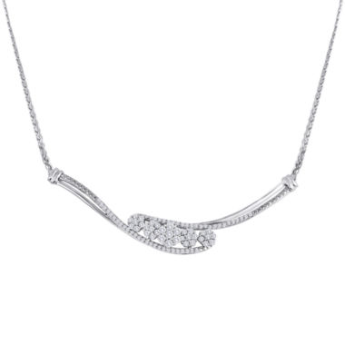 jcpenney.com | diamond blossom 1/2 CT. T.W. Diamond Sterling Silver Cluster Necklace
