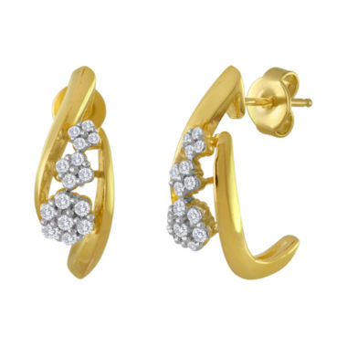 jcpenney.com | diamond blossom 1/3 CT. T.W. Diamond Cluster Drop Earrings