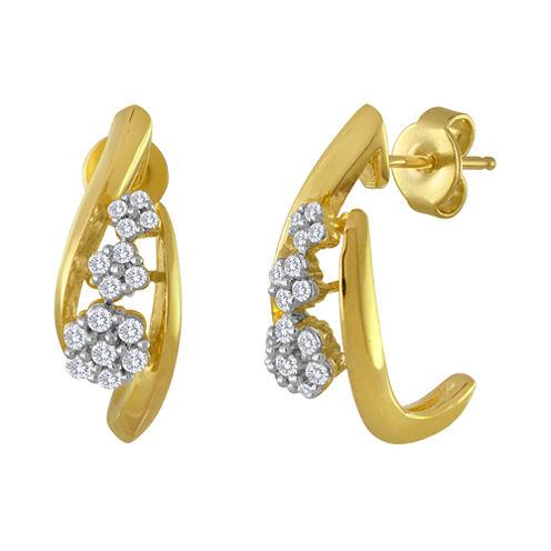 diamond blossom 1/3 CT. T.W. Diamond Cluster Drop Earrings