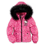 Hello Kitty® Animal-Print Puffer - Girls 7-12