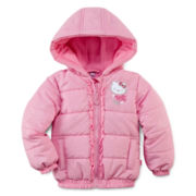 Hello Kitty® Ruffle-Front Puffer - Girls 2t-4t