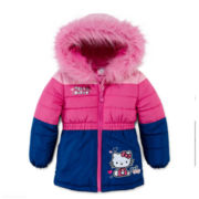 Hello Kitty® Colorblock Puffer - Girls 2t-4t