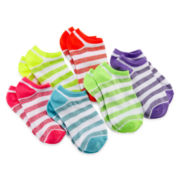 Capelli of New York Striped Metallic 6-pk. Socks - Girls 4-14