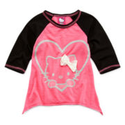 Hello Kitty® Sharkbite Hem Slub Top - Girls 2t-6
