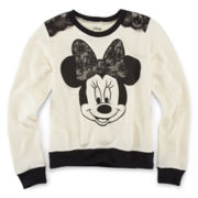 Disney Minnie Mouse Long-Sleeve French Terry Sweatshirt – Girls 7-16