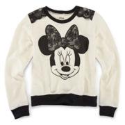 Disney Minnie Mouse Long-Sleeve French Terry Sweatshirt – Girls 7-16
