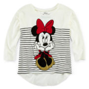 Disney Minnie Mouse Long-Sleeve Knit Tee – Girls 7-16