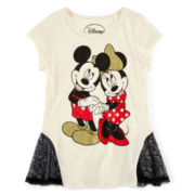 Disney Mickey and Minnie Mouse Short-Sleeve Tee – Girls 7-16