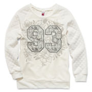 Knit Works Quilted Sleeve Sweatshirt - Girls 7-16