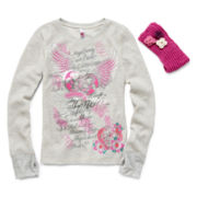 Knit Works Long-Sleeve Thermal Tee and Headband - Girls 7-16