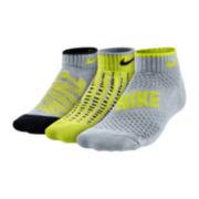 Nike® 3-pk Cushion Quarter Socks – Boys