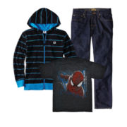 Spider-Man Graphic Tee, DC Shoes® Hoodie or Vans® Jeans - Boys