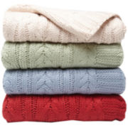 Scene Weaver™ Divine™ Cable-Knit Throw