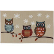 Owl Print Holiday Rug