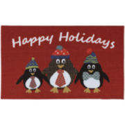 Penguin Print Holiday Rug