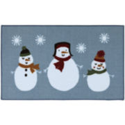 Snowmen Print Holiday Rug