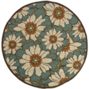 Montego Blossoms Indoor/Outdoor Round Rug