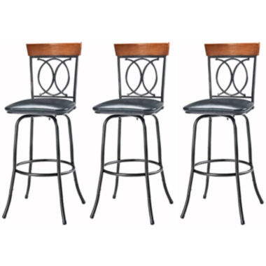 jcpenney.com | O/X-Back Set of 3 Adjustable Barstools