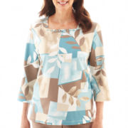 Alfred Dunner® Grand Canyon Patch Leaf Print Knit Top