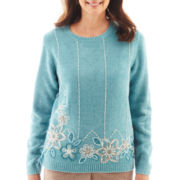 Alfred Dunner® Grand Canyon Long-Sleeve Border Chenille Sweater