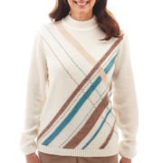 Alfred Dunner® Grand Canyon Long-Sleeve Criss-Cross Chenille Sweater