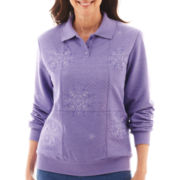 Alfred Dunner® Better Together Long-Sleeve Embroidered Knit Top