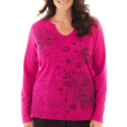 Made For Life™ Long-Sleeve Thermal Notch-Neck Top - Plus