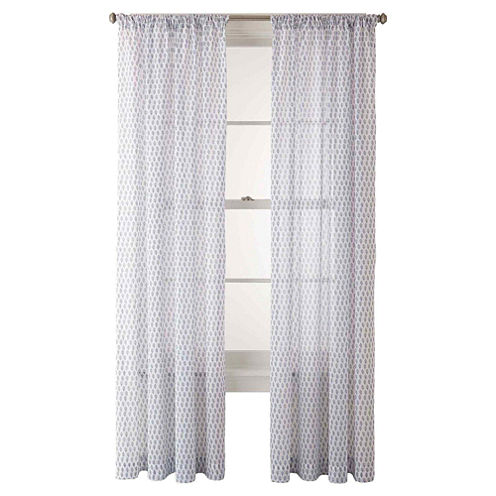 JCPenney Home™ Sasha Rod-Pocket Cotton Sheer Panel