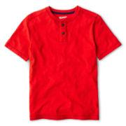 Arizona Solid Short-Sleeve Henley Tee - Boys 6-18