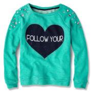 Knit Works Jewel Sweatshirt - Girls 7-16 Plus