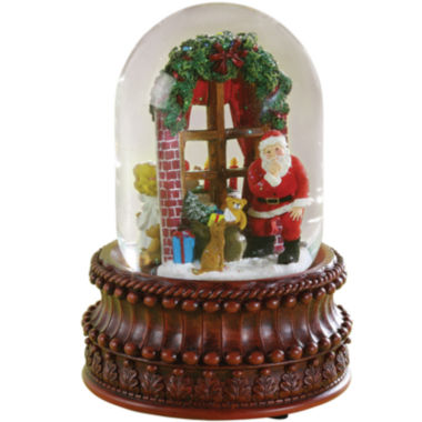 jcpenney.com | Roman Santa In Window Snow Globe