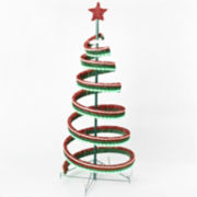 Roman 4' LED Spiral Ribbon Tree with Star