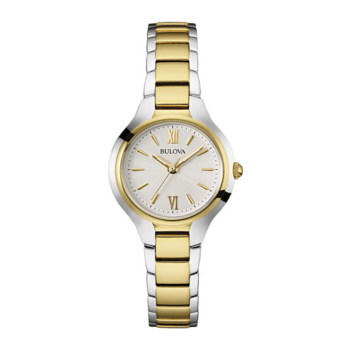 Bulova® Classic Womens Two-Tone Stainless Steel Bracelet Watch 98L217