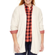 Stylus™ Long-Sleeve Chunky Flyaway Cardigan - Plus