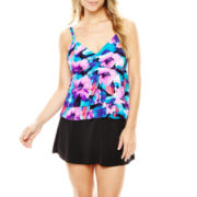 Trimshaper® Tiered Tankini Swim Top or Skirted Bottoms